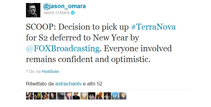 Terra Nova, la decisione sul rinnovo slitta al 2012; chiusura con un cliffhanger