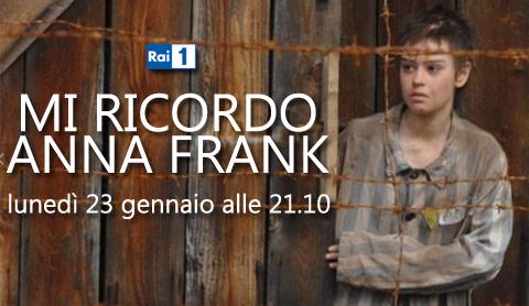 Programmi tv stasera, oggi 23 gennaio 2012: Mi ricordo Anna Frank, Grande Fratello 12, Che tempo che fa
