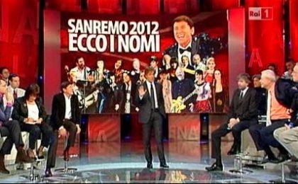 Sanremo 2012: ecco i 14 Big, le canzoni e gli ospiti internazionali