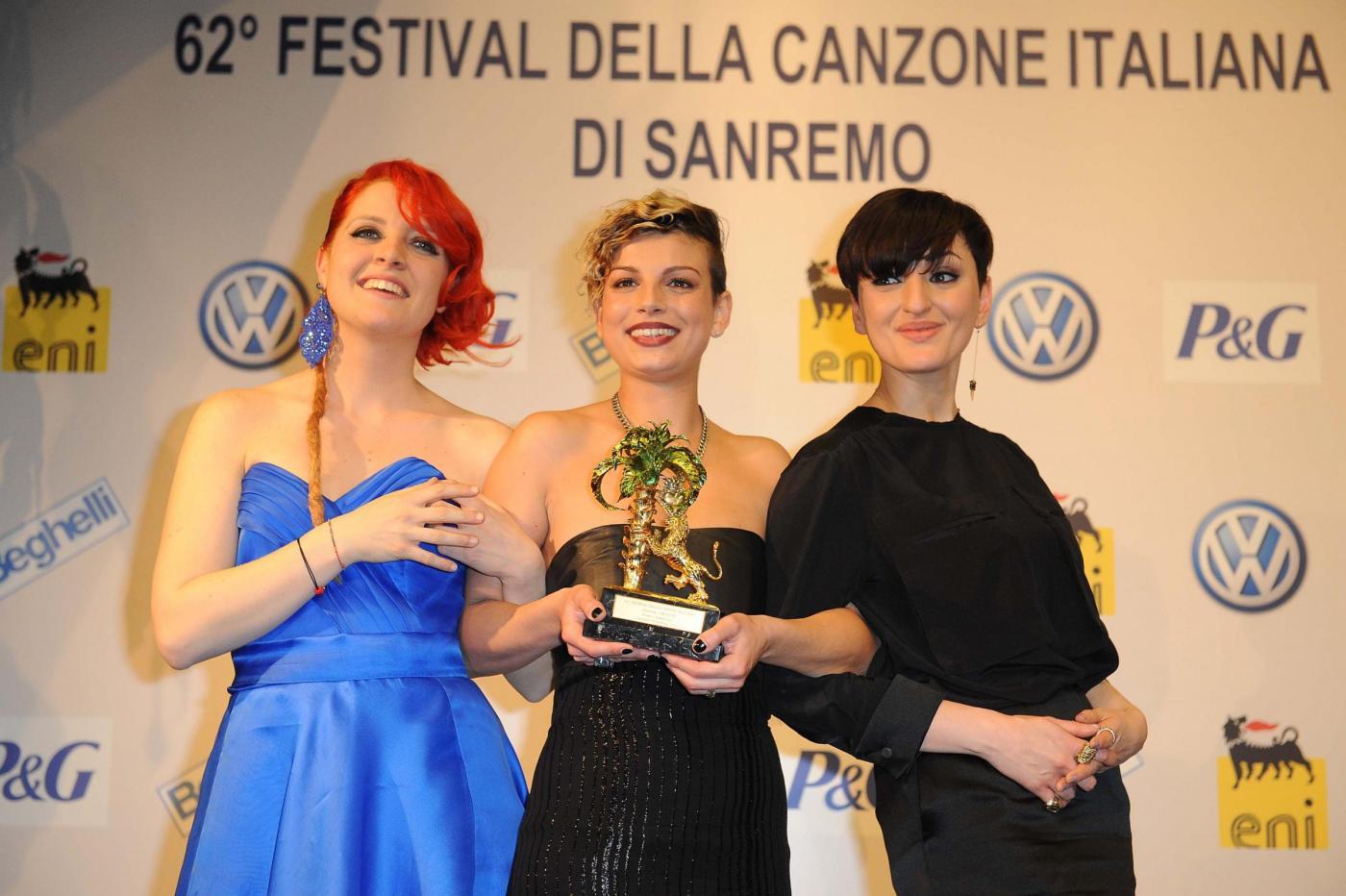 Sanremo 2012, sabato 18 febbraio 2012: boom per la finale, 82% di share per Emma vincitrice