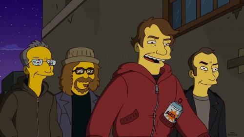 Simpson, gli street artist Shepard Fairey, Ron English, Kenny Scharf e Robbie Conal guest star a marzo 2012