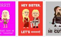 Le cartoline di San Valentino ispirate a Game Of Thrones