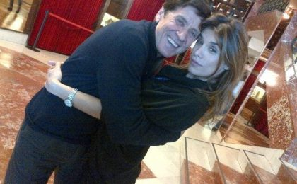 Elisabetta Canalis, le prime foto a Sanremo 2012