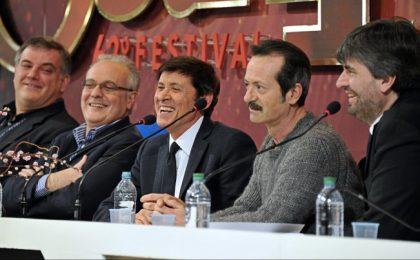 Sanremo 2012, live conferenza stampa 16/2/2012: 'Non è il Festival della Sony', Mazzi sclera