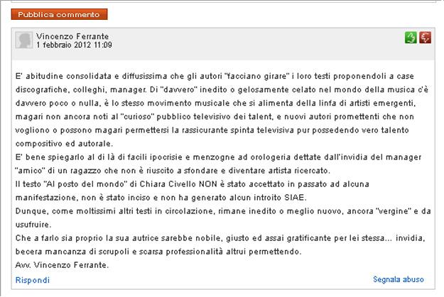 sanremo2012 Chiara Civello Avvocato