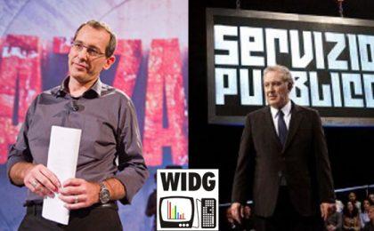 Servizio Pubblico e PiazzaPulita promossi da WIDG, ma il panel si divide