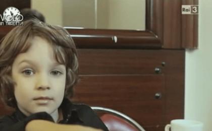 Volo in diretta, fa discutere Fabio Volo in versione bambino [FOTO]