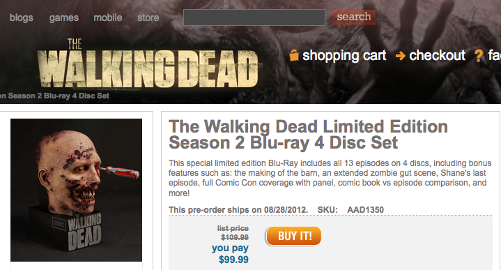 wd dead shop amc dvd 2