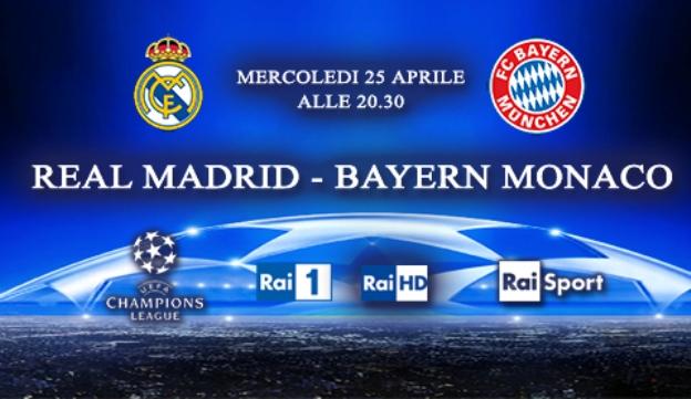 Programmi tv stasera, oggi 25 aprile 2012: Real Madrid-Bayern Monaco, Le tre rose di Eva, ITIS Galileo