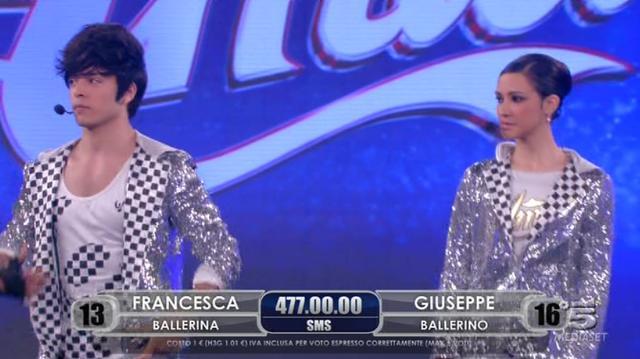 Francesca e Giuseppe in finale ad Amici 11