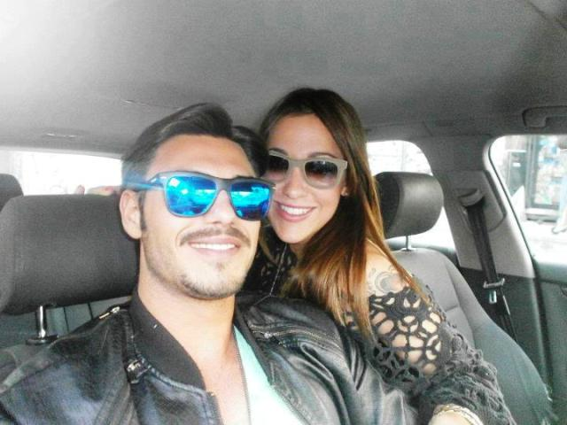 Francesco Monte e Teresanna in macchina insieme