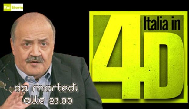 Italia in 4D: il nuovo magazine di Rai Storia con Maurizio Costanzo
