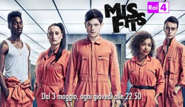 Misfits: la terza stagione in chiaro su Rai 4 da stasera