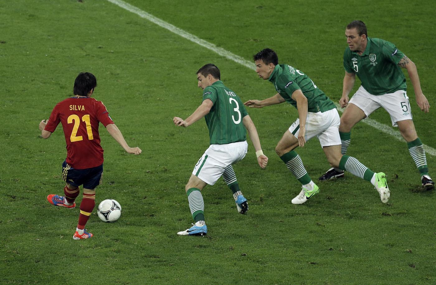 Ascolti tv giovedì 14 giugno 2012: la goleada della Spagna contro l'Irlanda sopra i 6 mln
