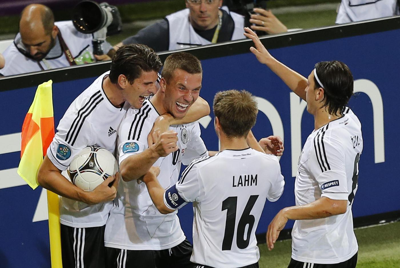 Ascolti tv domenica 17 giugno 2012: vince Danimarca-Germania, Canale 5 sotto i 2 mln