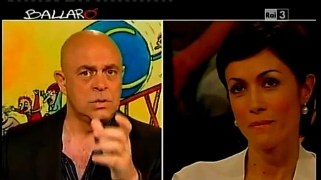 Maurizio Crozza a Ballarò del 19/06/2012: la Carfagna reagisce a battuta sul Pdl [VIDEO]