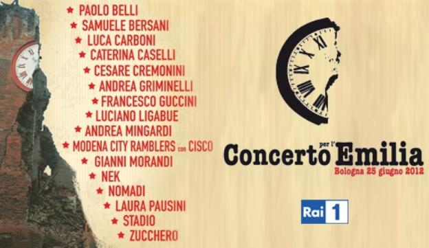 Concerto per l'Emilia: stasera su Rai Uno lo show per le popolazioni terremotate