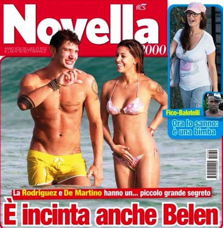 Belen incinta di Stefano De Martino su Novella 2000