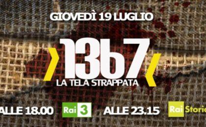 Su Rai Tre il documentario 1367 – La tela strappata in ricordo di Falcone e Borsellino