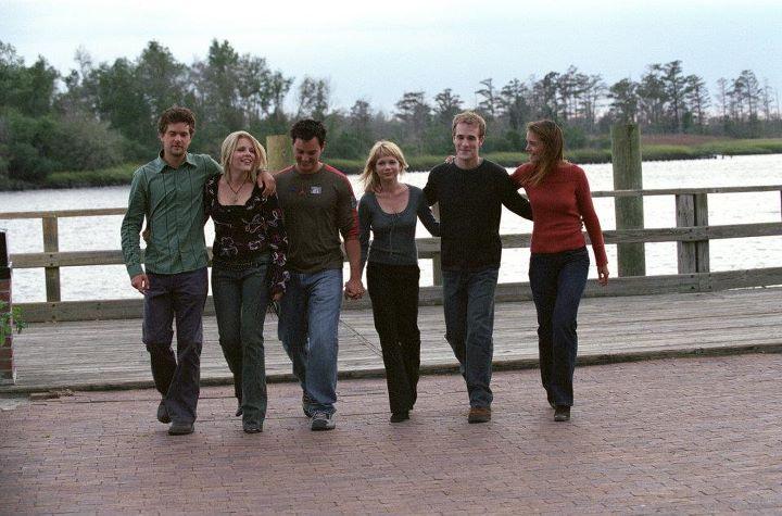 Il cast di Dawson's Creek insieme a Busy Phillips
