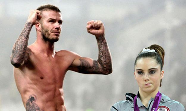 McKayla Maroney e David Beckham