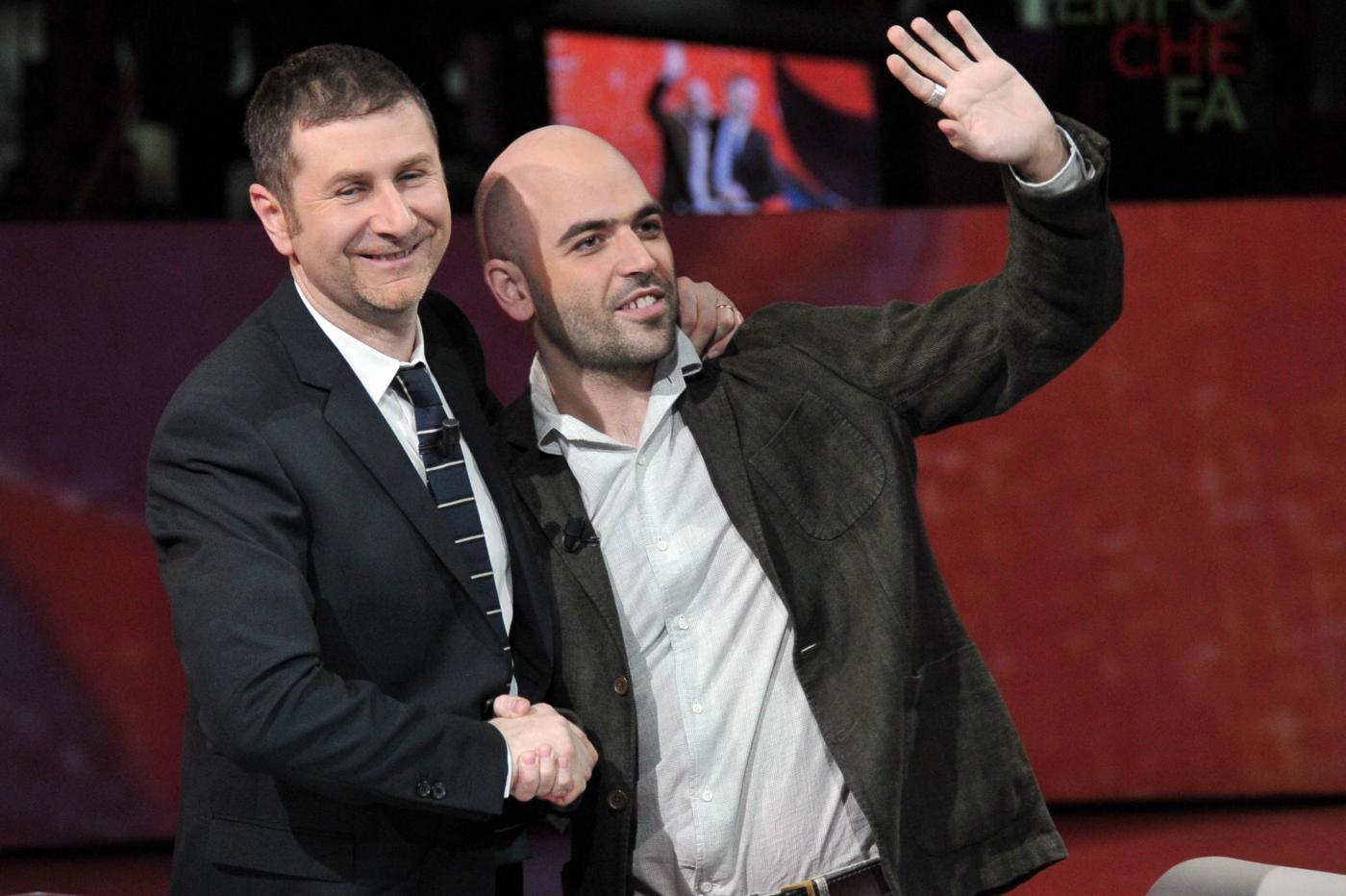 Fabio Fazio e Roberto Saviano su Rai 3 dal 1° ottobre con Che tempo che fa del lunedì