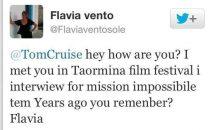 Flavia Vento e Tom Cruise: i 10 tweet più divertenti tra la showgirl e lattore americano