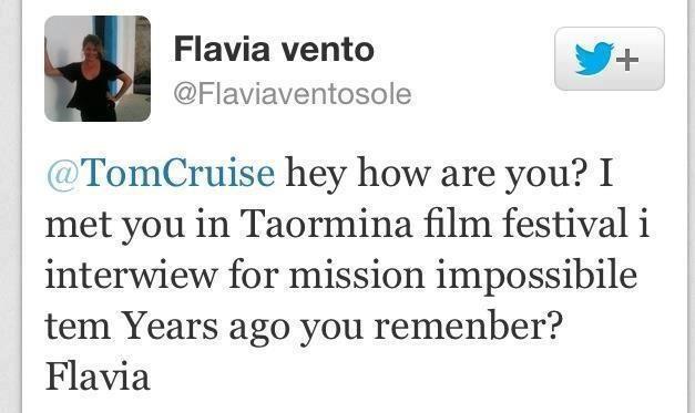 Flavia Vento E Tom Cruise I 10 Tweet Più Divertenti Tra La Showgirl