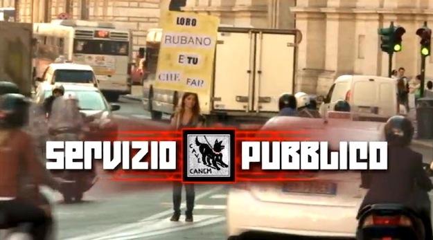 Servizio Pubblico, Michele Santoro ritira lo spot 'Loro rubano' dalla TV [VIDEO]