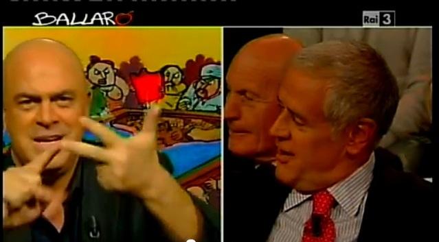 Crozza vs Formigoni a Ballarò del 2/10/2012: il politico si irrita [VIDEO]