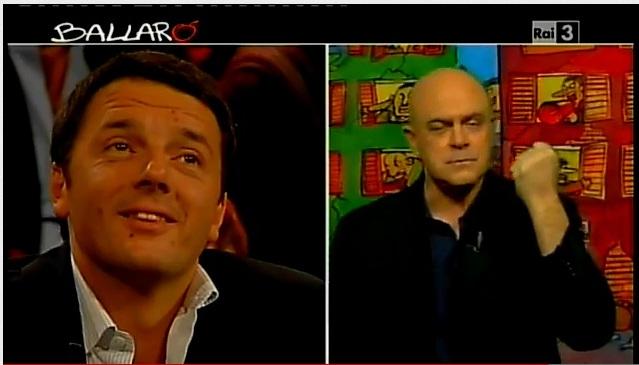 Crozza a Ballarò del 30/10/2012: Matteo Renzi è un nuovo format Magnolia [VIDEO]