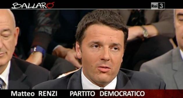 Ballarò, anticipazioni del 30 ottobre 2012: ospiti Renzi e Alemanno