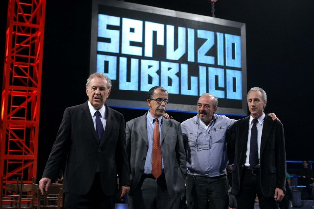 Ascolti tv giovedì 25 ottobre 2012: con Servizio Pubblico di Santoro La7 sfiora il 13%
