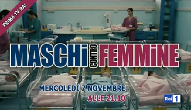 Ascolti tv mercoledì 7 novembre 2012: Maschi contro Femmine batte Ris Roma 3