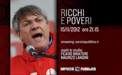 Servizio Pubblico: anticipazioni e ospiti della quarta puntata, si parla di Ricchi e Poveri