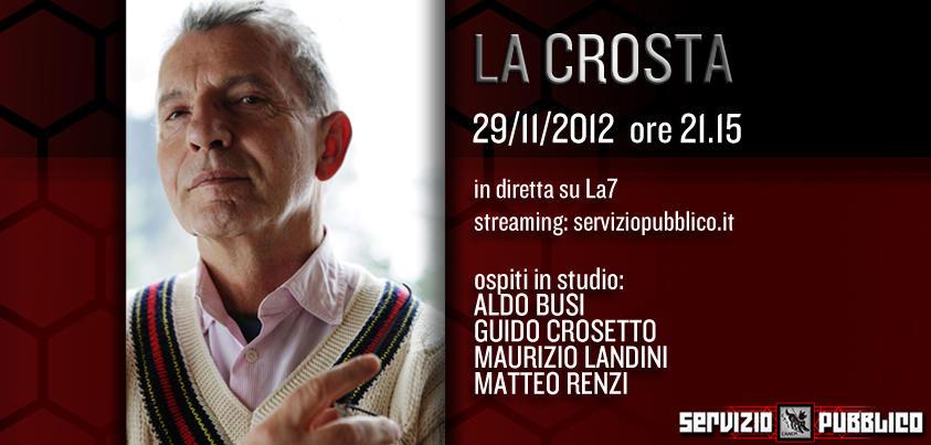 Servizio Pubblico anticipazioni: Michele Santoro ospita Renzi e Busi
