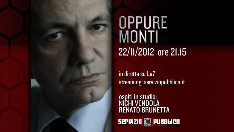 Servizio Pubblico: Michele Santoro ospita Vendola, Brunetta ed Edoardo Nesi