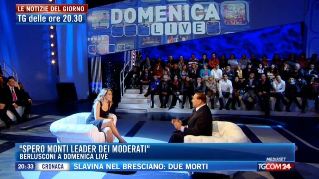 Domenica Live: Barbara D'Urso difende la sua intervista a Berlusconi