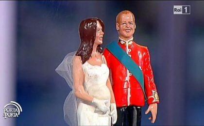 Porta a Porta: Bruno Vespa rinuncia ai plastici per le statuine di William & Kate [FOTO]