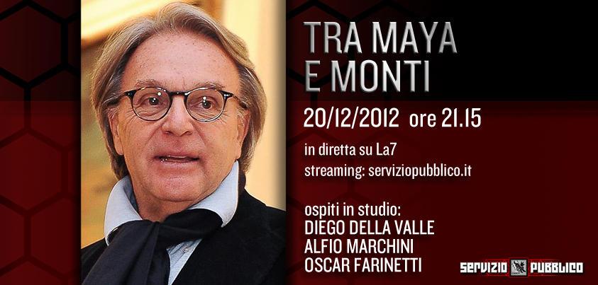 Servizio Pubblico: Della Valle ospite di Santoro nella nona puntata