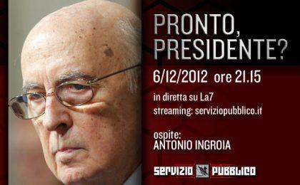 Servizio Pubblico: Antonio Ingroia ospite di Michele Santoro nella settima puntata