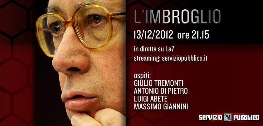 Servizio Pubblico: Michele Santoro ospita Tremonti e Di Pietro nell'ottava puntata