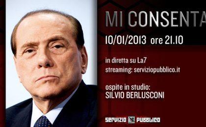 Servizio Pubblico, Berlusconi da Santoro: non sarà una resa dei conti