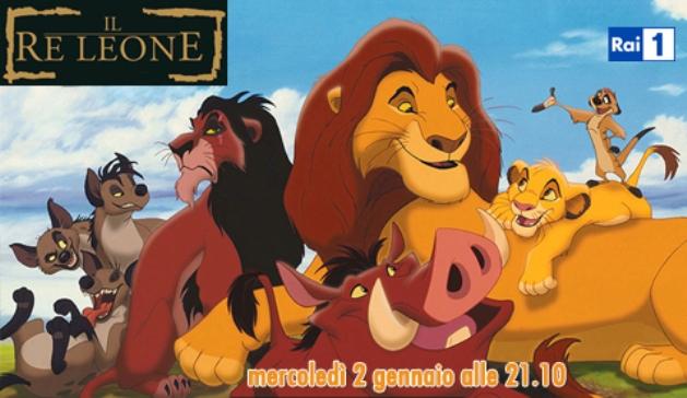 Ascolti tv mercoledì 2 gennaio 2013: Il Re Leone supera il 20% e batte Intelligence
