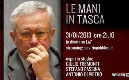 Servizio Pubblico: Tremonti e Di Pietro ospiti di Santoro nella tredicesima puntata
