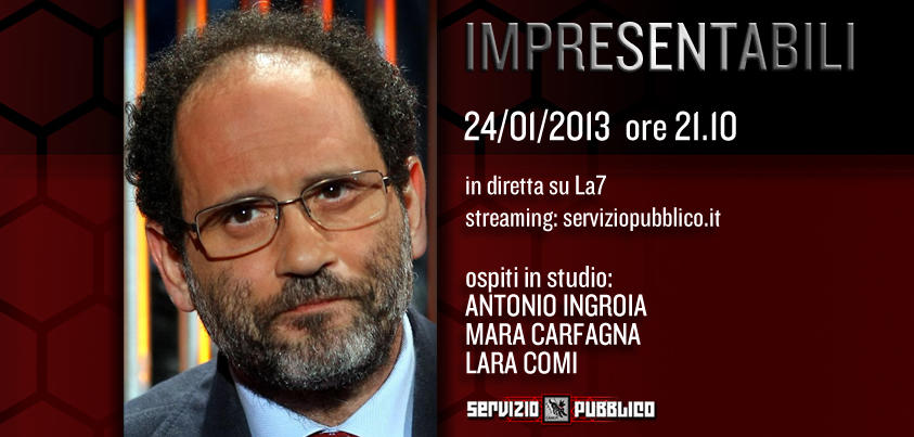 Servizio Pubblico: Santoro ospita Ingroia nella dodicesima puntata