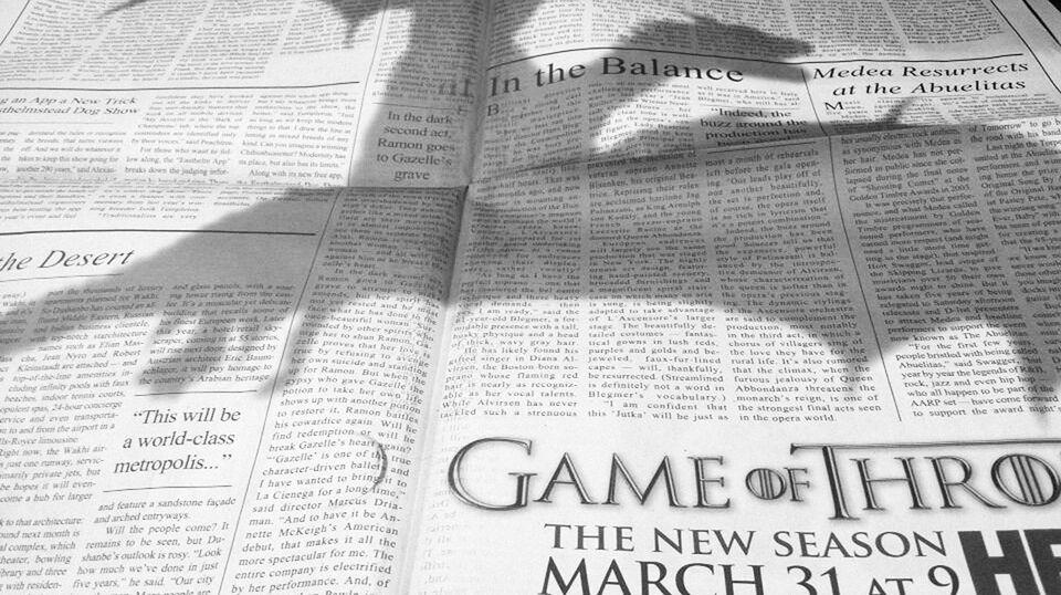 Game of Thrones 3, nuovo promo e una pubblicità sul New York Times [VIDEO]