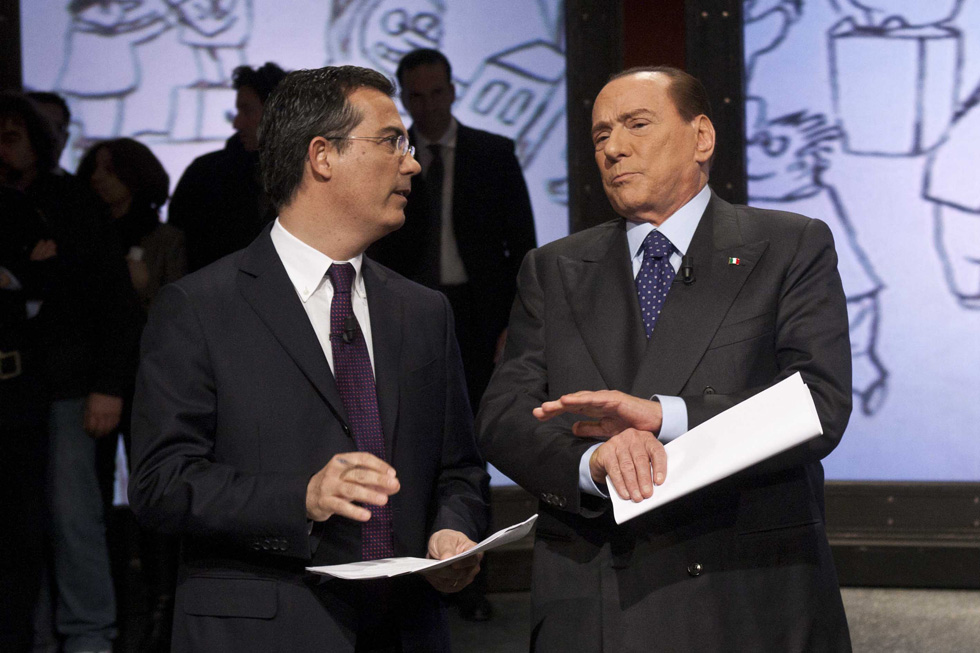 Sformat di Mariano Sabatini – Berlusconi a Ballarò si mette sulle punte, poi si lascia intervistare