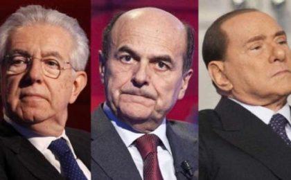 Berlusconi, Monti e Bersani in Tv vs Sanremo 2013, il Cavaliere: 'Andava spostato'