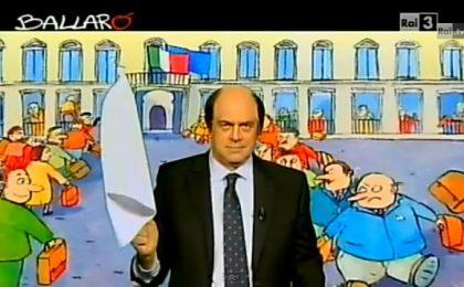 Crozza a Ballarò parodia Bersani: Grillo adottami, ti smacchio il camper! [VIDEO]